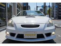 オプションバンパーメカニカルVerフロント・純正フォグライト・ヘッドライトもスッキリ綺麗です。