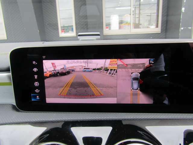 360°ビューモニターでスムースな駐車と安全確認をサポートします♪