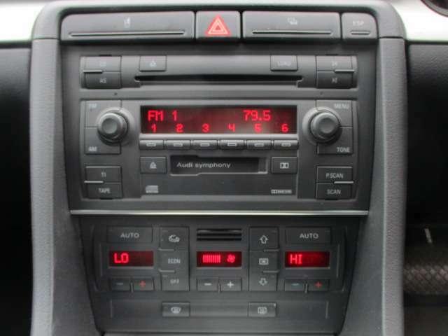 Bプラン画像:純正CDオーディオが装備されております♪エアコンは左右独立型になっておりますので、運転席と助手席で別々の温度調節が可能です♪パネルやスイッチ類にはキズや汚れ等も少なくキレイな状態です♪