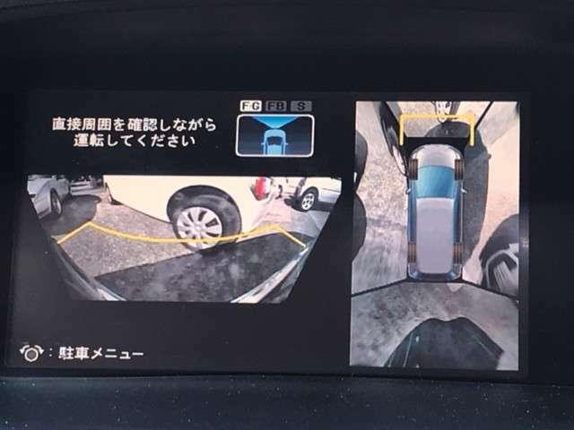 全方位カメラ搭載ですので、安全に駐車ができます。運転ができます。