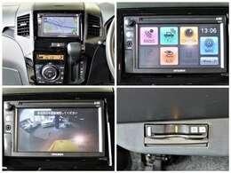 ナビ付 テレビも観れます AUX付! 駐車時も安心 バックカメラ付き ETCもついて有料道路も楽々
