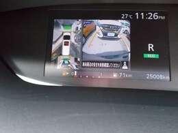 アラウンドビューモニター。クルマを上空から見下ろしているかのような映像で、駐車の際、周囲の安全を確認できます!