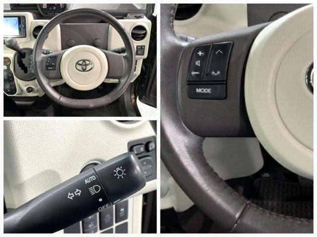 ステアリングリモコンやオートライトなど便利な装備が付いています。