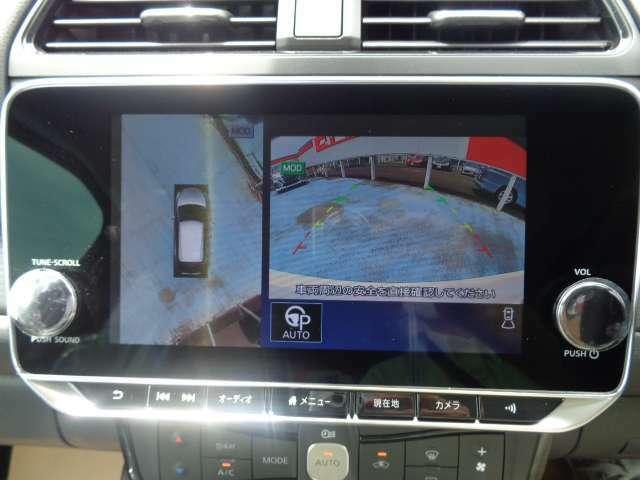【アラウンドビューモニター】上が丸見え!!苦手な駐車もラクラク♪車の周囲に子どもや障害物などがないか、ひと目で確認できて事故防止に役立ちます!
