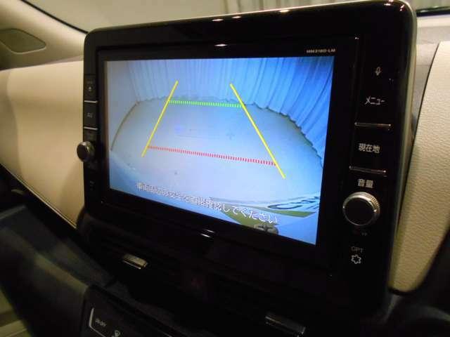 しっかりと線が表示されるバックカメラ付きです!大画面で表示されるので安心して駐車が行えます!