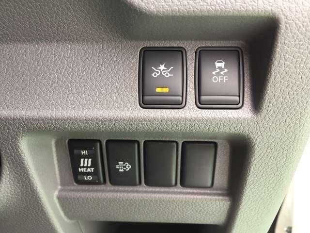 ミリ波レーダーで前方の車両を検知。衝突の可能性が高まるとメーター内の警告灯やブザーによりドライバーに回避操作を促します。