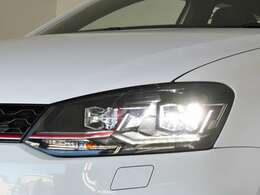 Polo GTI には「LEDヘッドライト」標準装備。