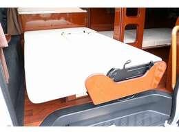 ダイネットベッドは子供用となり162cm×96cm 子ども2名就寝可能☆