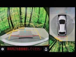 便利な【パノラマミックビューモニター】で全周囲の安全確認ができます。車の駐車が苦手な方にもオススメな便利機能です。