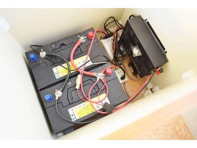 ツインサブバッテリー、コンバーター、走行充電、外部電源付になります☆その他の装備等も取付けを承りますので、お気軽にお問合せ下さい!
