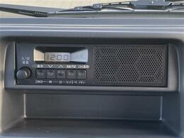 ラジオの再生ができる「純正オーディオ」が搭載されています。
