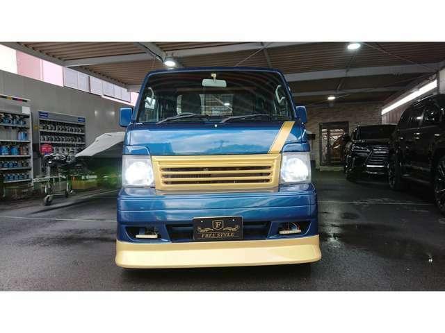 スズキ キャリートラック トラック 660KC エアコン・パワステ 3方開 カスタム仕様 社外フルエアロ 社外リアスポイラー 社外13インチアルミホイール 細かいところまでカスタムしてあります。