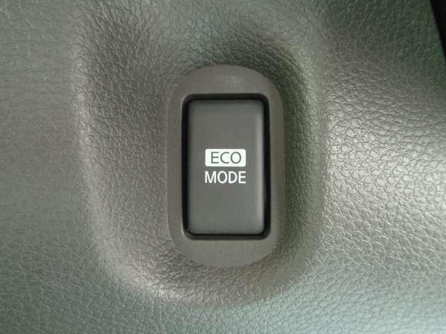 エンジンとCVTの作動を自動制御して急加速を抑えることで燃費向上をサポートしてくれるECOモード搭載です♪♪
