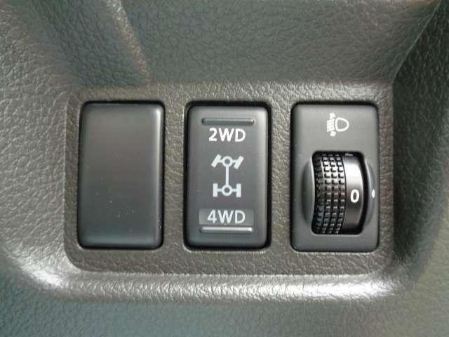 これは嬉しい2WD⇔4WD切り替えスイッチ付き!!必要時だけ4WDにすることができます☆