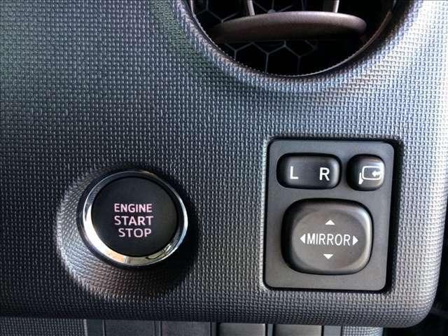 エンジンスタートはプッシュボタン式で簡単です。スマートキーが車内にあれば、エンジンスタートが可能です★☆★☆