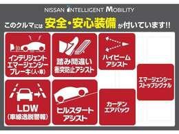◆◆◆日産の最新の安全装置がついています