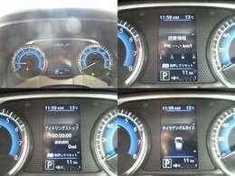 メータはタコメーター付きで燃費計など様々な情報を出してくれます!