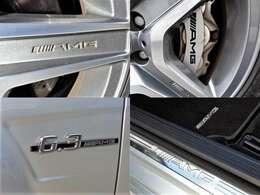 AMGのアルミ・キャリパー・スカッフプレートが所有感を高めます☆