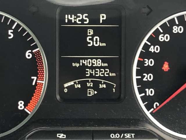 走行距離34322km!