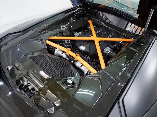 オークリーデザインによりECUチューンとエキゾーストシステムの交換にて馬力アップされたV12エンジンを搭載。