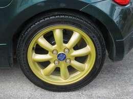 MINILITEの15インチアルミホイールが装備されています。タイヤの溝もたっぷり!