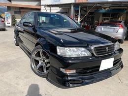 トヨタ クレスタ 2.5 ルラーン 黒全塗装 ワークホイール 車高調