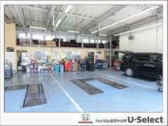 自社工場併設です。ご購入いただいた後の車検、修理、点検、メンテナンス、タイヤ交換など何でもおまかせください!