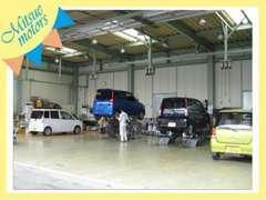 関東運輸局指定工場完備でアフターサービス充実!納車後もカーライフを当店にお任せ下さい!