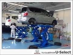 国の許可を得た『指定整備工場』を完備。国家資格を取得した、ホンダ車のプロが責任もってお客様の大切なお車を整備いたします!
