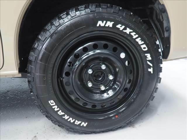 新品鉄チンホイールに新品マッドタイヤの組み合わせ!