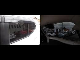 リアドアにはプライバシーガラスが採用されておりますので、車内のプライバシーが守られるのと同時に、お肌が紫外線から守られます!