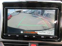 純正9型SDナビ付き♪ 大画面のガイド線付バックカメラで駐車も安心ですね♪ 駐車の不安の方でも安心です♪