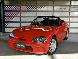 ロングノーズ&ショートデッキのオーソドックスなスポーツカースタイル。ボディカラーは艶やかなコルドバレッドで、外装全塗装済みです。