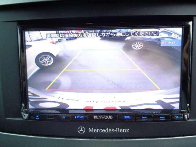 リアビューカメラで車庫入れ楽々♪パークトロニックも装備されています。