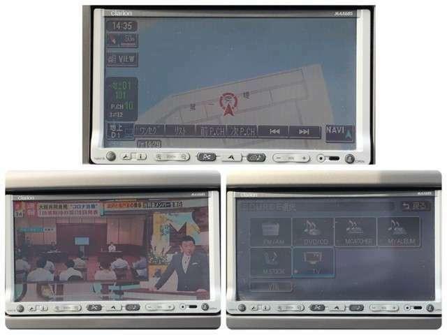 社外ナビが装備されております♪フルセグTVとDVDの視聴も可能です♪