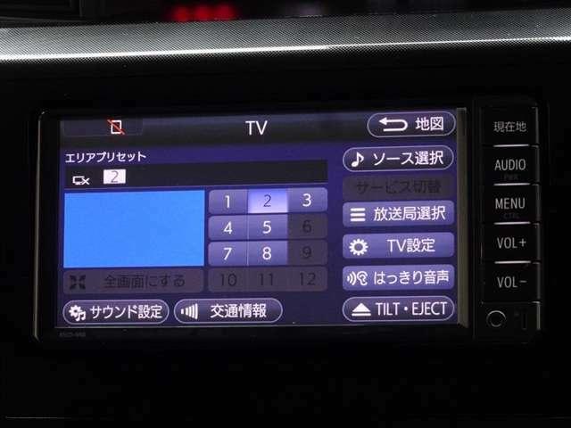 ワンセグDTV放送が視聴可能です。