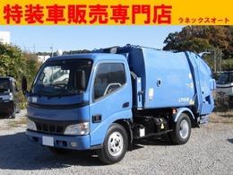 日野自動車 デュトロ 2t積 極東製プレスパッカー車4.2立米 4.1L LPG車