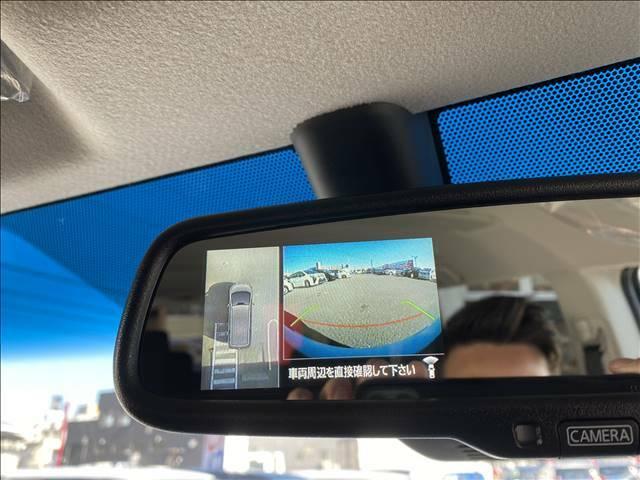 全周囲カメラ装備!上空から見たような映像をナビに表示して安全を確認しながら駐車が出来ます!