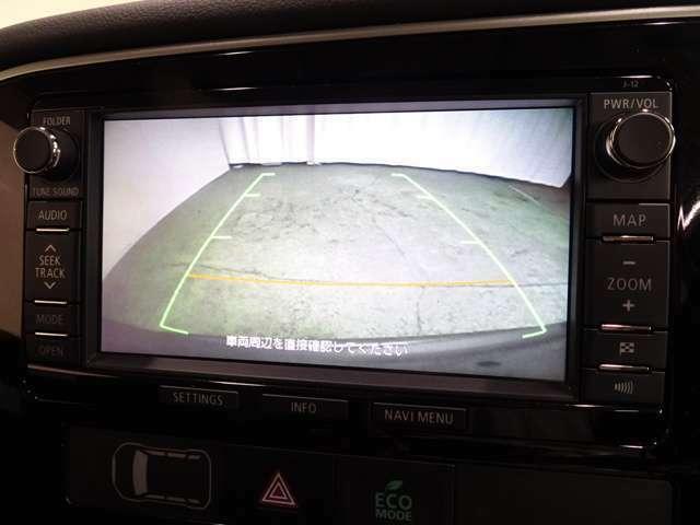 バックカメラで安全確認