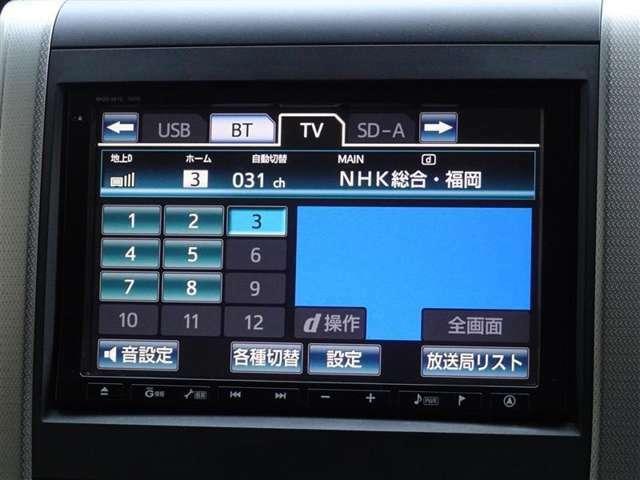 地デジ対応、フルセグDTV放送が視聴できます。綺麗な画質です。