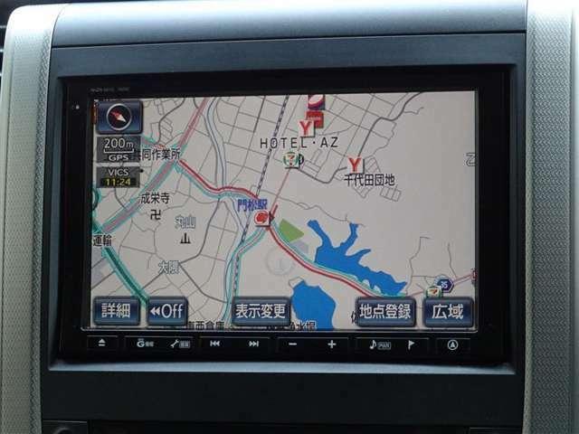 トヨタ純正HDDナビを装備しております。