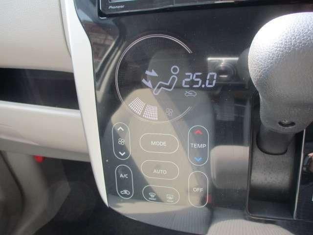 こちらのオートエアコン、実はタッチパネル式なんです!近代的でとってもオシャレですよね♪