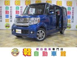 ホンダ N-BOX+ 660 カスタムG ターボパッケージ 4WD ナビ TV ABS パワスラ 1オナ アイドルSTOP