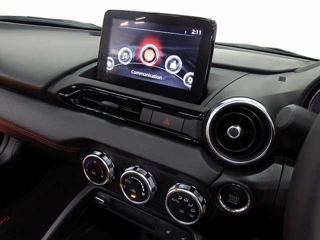 マツダコネクト&地デジ装備、視点移動が少ない画面位置で手元で操作が可能となります