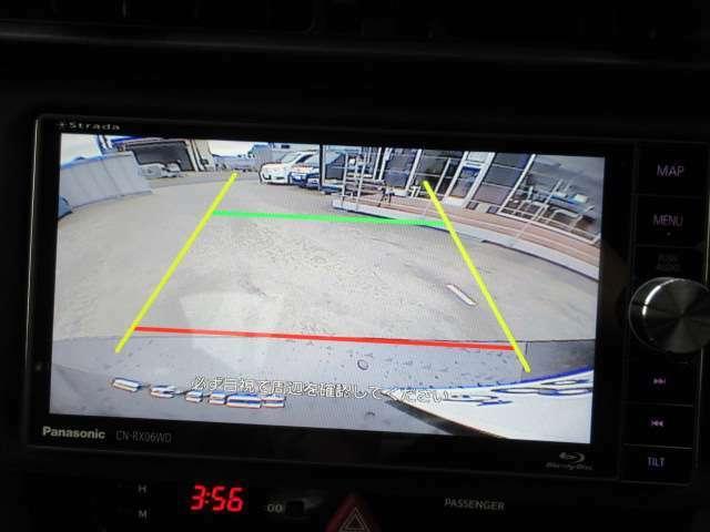 社外ストラーダSDナビ付き♪ ガイド線付バックカメラで駐車も安心ですね♪ 広角のカメラで駐車も安心です♪