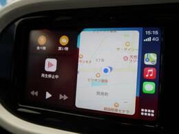 ●AppleCarPlay対応ディスプレイ『お手持ちのiPhoneを接続することで、マップ案内やミュージック再生機能を使うことができます!』