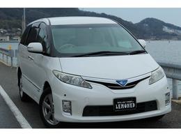 トヨタ エスティマハイブリッド 2.4 X 4WD HDDナビ 後席フリップダウンモニター