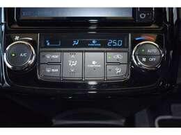 【オートエアコン】好きな温度に設定すれば、自動的に温度を調整してくれます♪暑すぎず寒すぎず、いつまでも車内の温度を快適に保ってくれます!