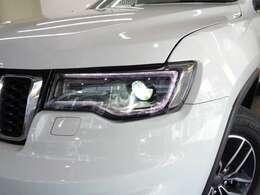 LEDフロントフォグランプ、LEDデイタイム・ランニング・ライト、バイキセノンヘッドライトを一体化させたデザイン!