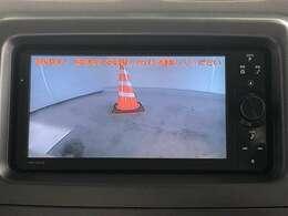 バックカメラが付いているので後方の死角を映像で確認しながら後退できます。